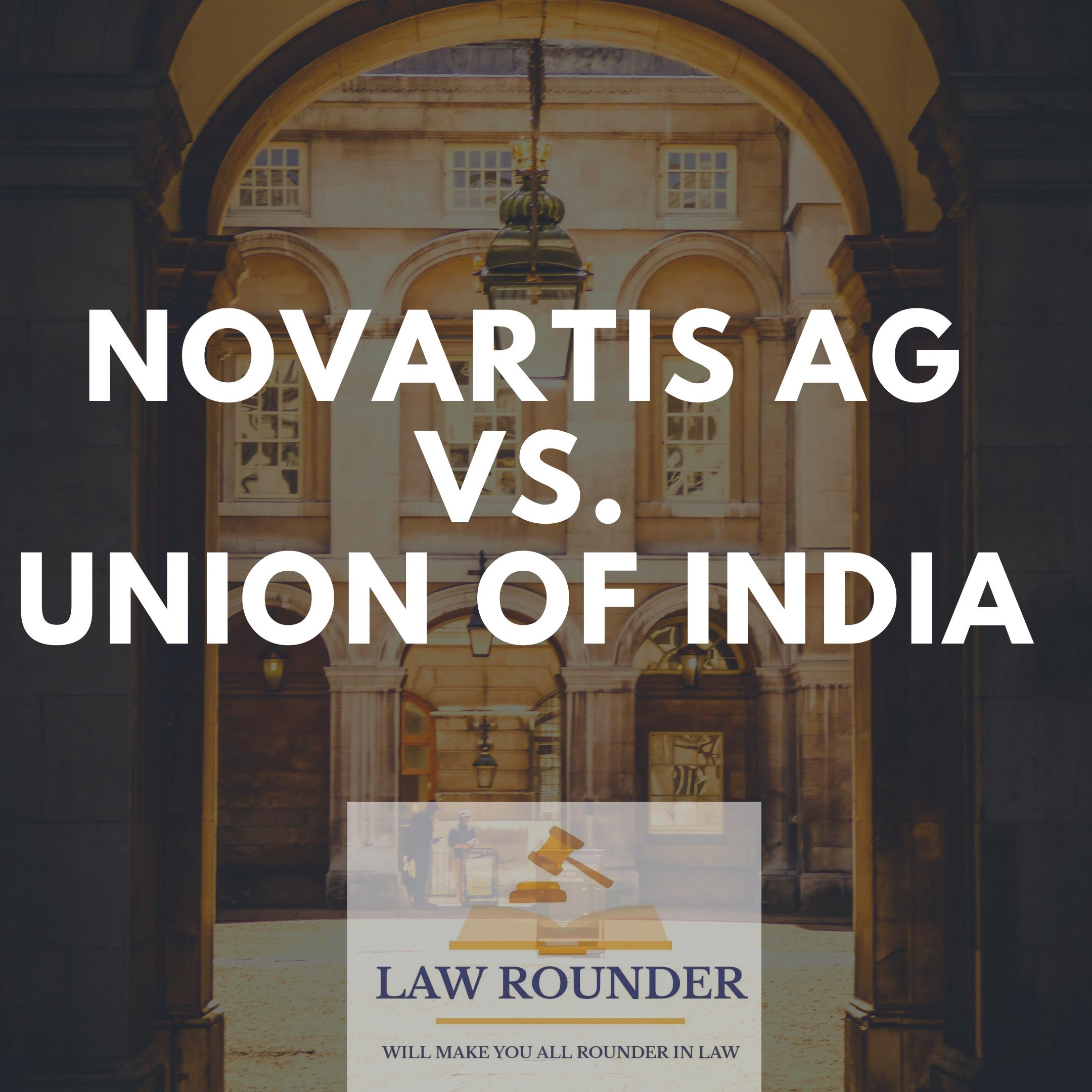 novartis ag vs. union of india